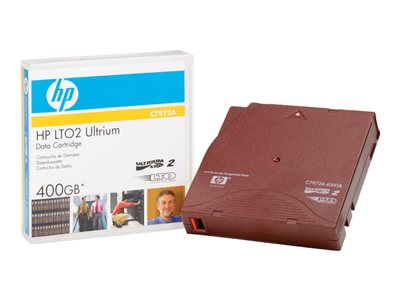 HPE Ultrium Custom Labeled Data Cartridge - LTO Ultrium 2 x 20 - 200 GB - storage media
