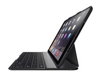 Belkin QODE Ultimate - Keyboard and folio case - Bluetooth - black - for Apple iPad Air 2
