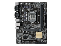 ASUS H110M-C - Motherboard - micro ATX - LGA1151 Socket - H110 - USB 3.0 - Gigabit LAN - onboard graphics (CPU required) - HD Audio (8-channel)