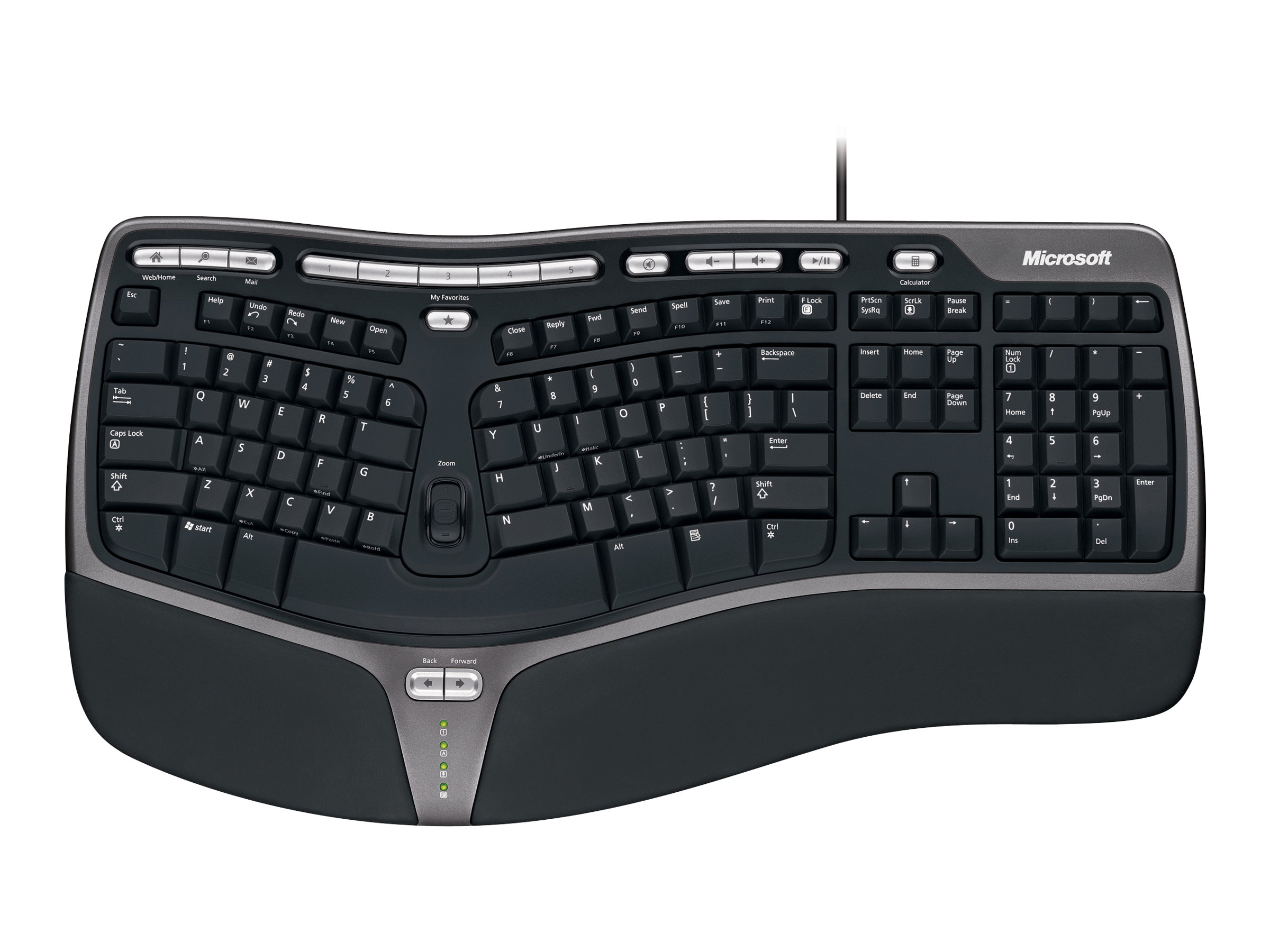Microsoft Natural Ergonomic Keyboard 4000 - Tastatur - USB - Deutsch
