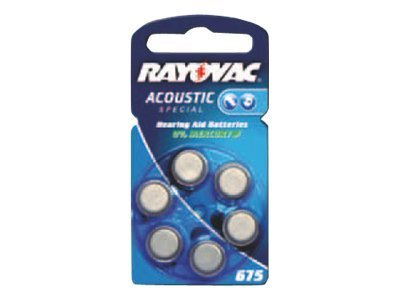 Rayovac Acoustic Special 675 - Batterie 6 x PR44 - Zink-Luft