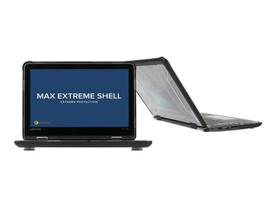 Max Cases MAX Extreme Shell Notebook top and rear cover 11.6INCH black, translucent