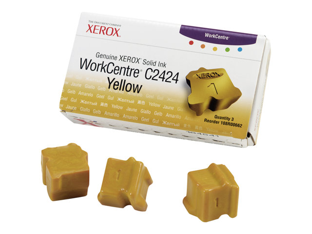Xerox Genuine Xerox WorkCentre C2424 - 3 - jaune - encres solides - pour WorkCentre C2424