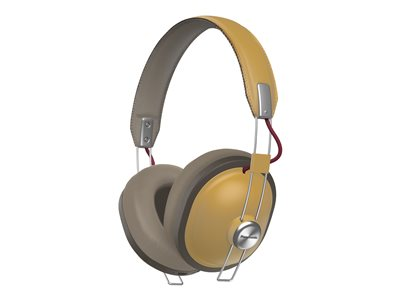 Panasonic RP-HTX80B Retro headphones with mic full size wireless beige