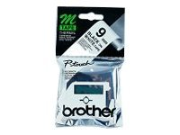 Brother M-K221SBZ - non-laminated tape - 1 roll(s) - Roll (0.9 cm x 4 m)