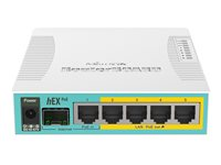 MikroTik RouterBOARD hEX RB960PGS Router 4-port switch Kabling