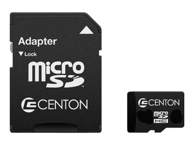 Centon Flash memory card (microSDHC to SD adapter included) 16 GB Class 4 microSD