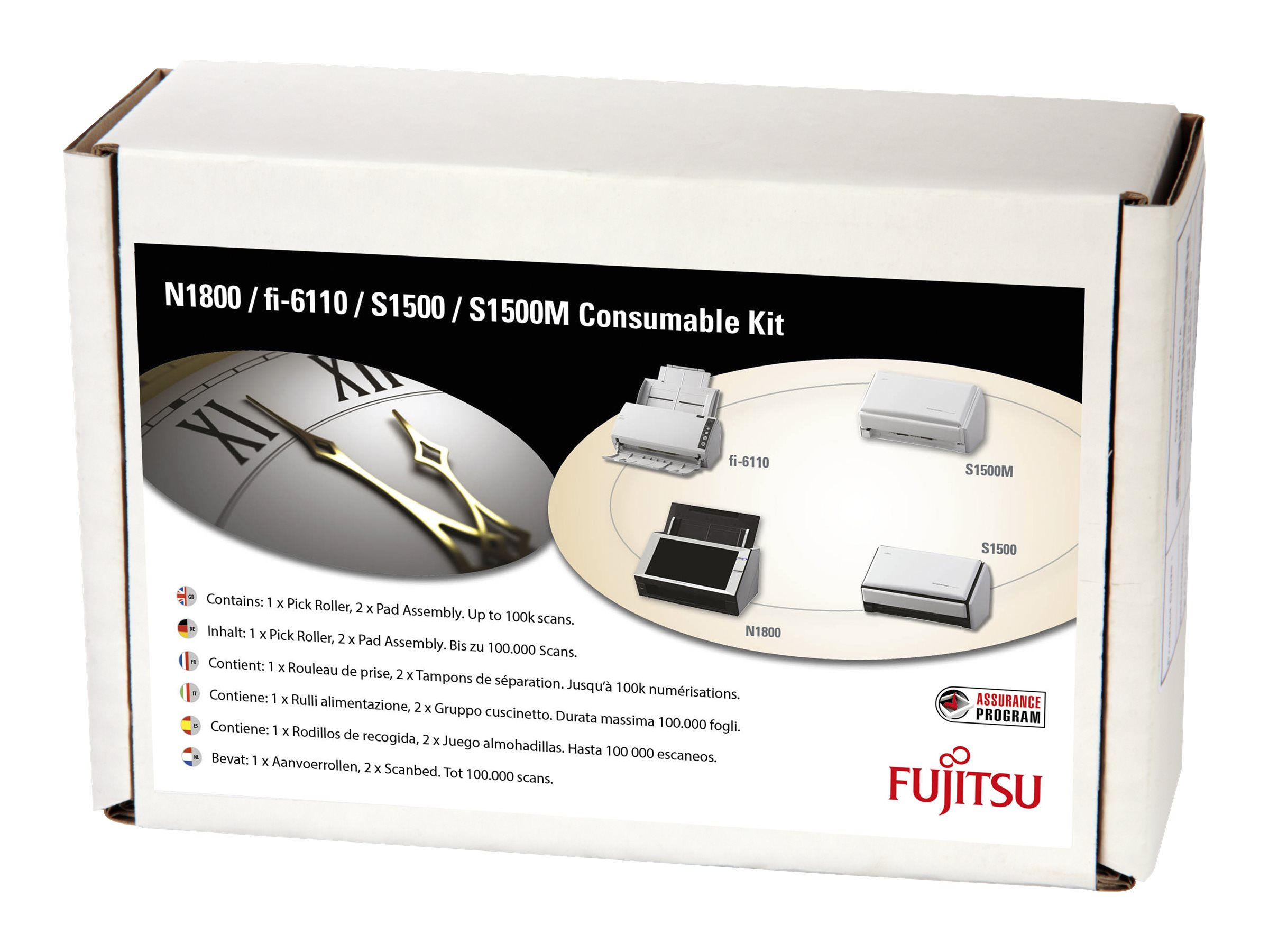 Fujitsu Consumable Kit - Scanner - Verbrauchsmaterialienkit - für fi-6110; ScanSnap N1800, S1500, S1500 Deluxe, S1500 Deluxe Bundle, S1500M