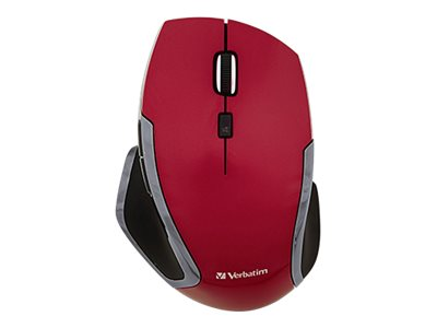 Verbatim Deluxe Mouse 6 buttons wireless 2.4 GHz USB wireless receiver red