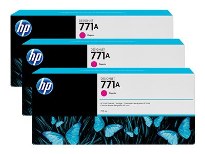 HP 771A Tri-pack 3-pack 775 ml magenta original ink cartridge