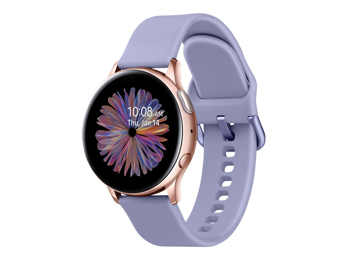 Samsung Galaxy Watch Active 2 - rose gold aluminum - smart watch with band - phantom violet - 4 GB