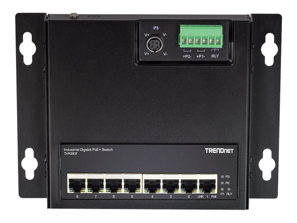 TRENDnet TI-PG80F - Industrial - switch - 8 ports - unmanaged