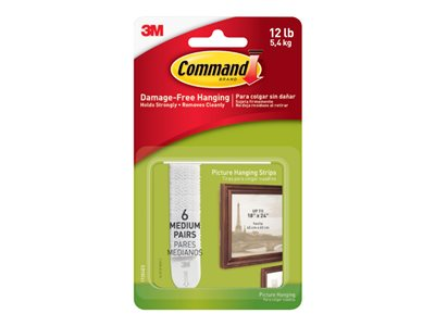 Command Medium Picture Hanging Strips Mounting adhesive (pack of 6)