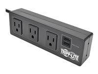 Tripp Lite Protect It! 3-Outlet Surge Protector with Mounting Brackets, 10 ft. Cord, 510 Joules, 2