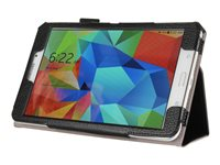 i-Blason Slim Book Flip cover for tablet synthetic leather black 8INCH