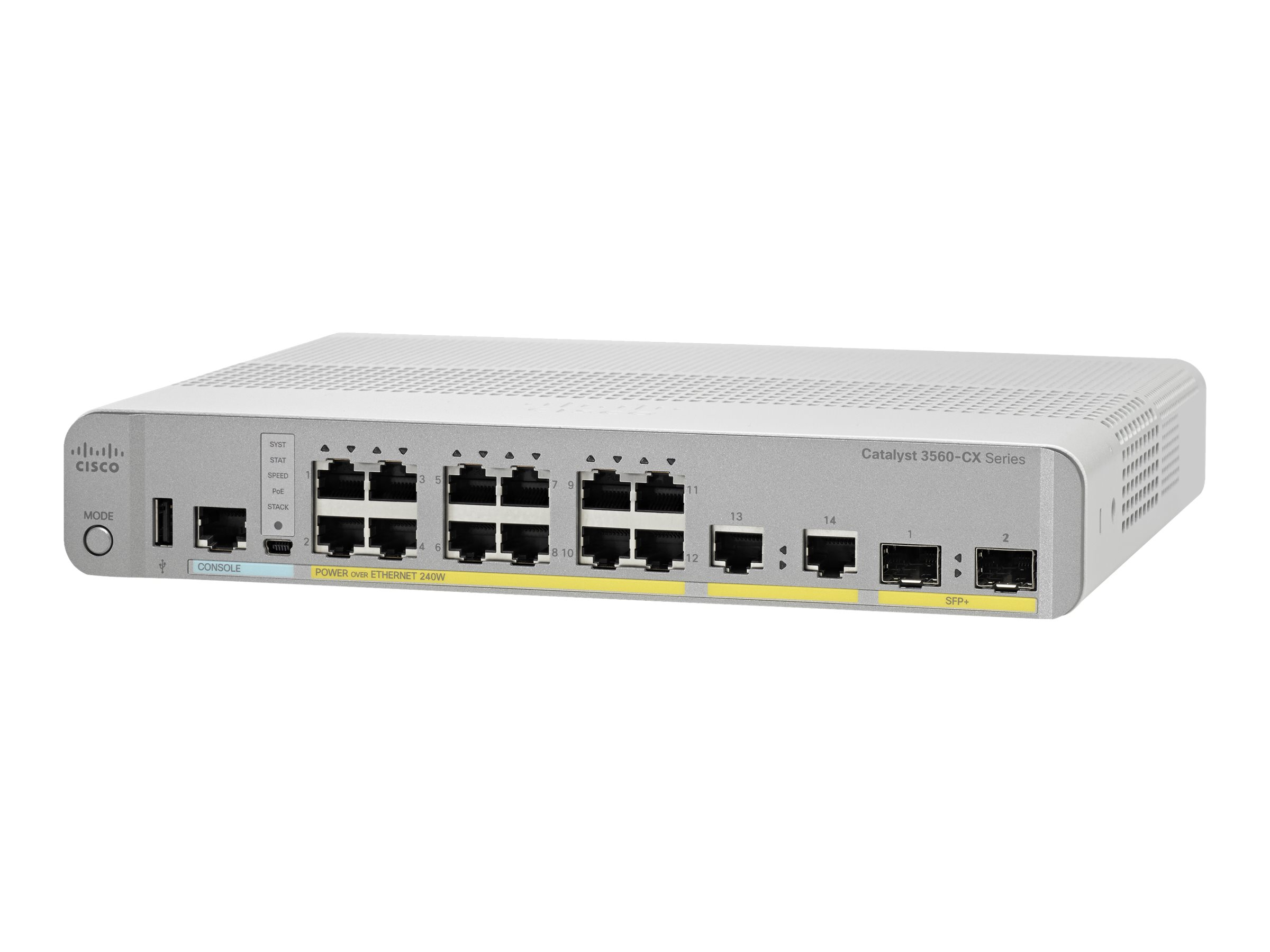Cisco Catalyst 3560CX-12PD-S - switch - 12 ports - managed - rack-mountable
