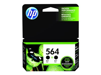 HP 564 2-pack - 2-pack - 6 ml - black - original - ink cartridge - for Deskjet 35XX; Photosmart 55XX, 55XX B111, 6520, 65XX B211, 75XX, 75XX C311, eStation C510