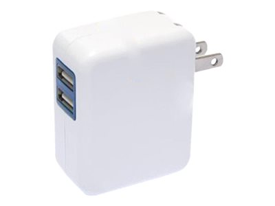 4XEM 4XUSBCHARGER2 Power adapter 2.1 A 2 output connectors (USB) white