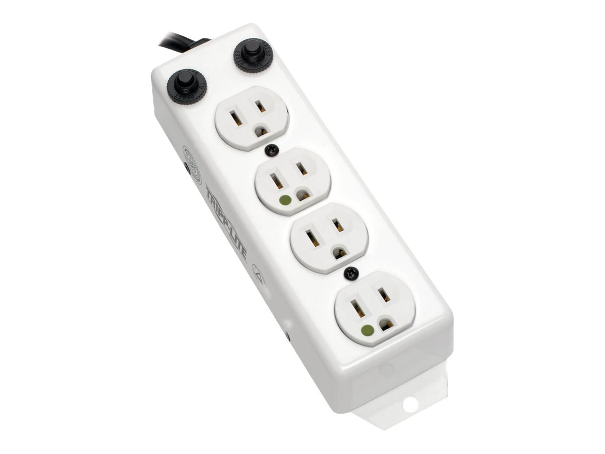 Tripp Lite Power Strip Hospital Medical 4 Outlet UL1363A 3'-10' Coiled Cord - power strip