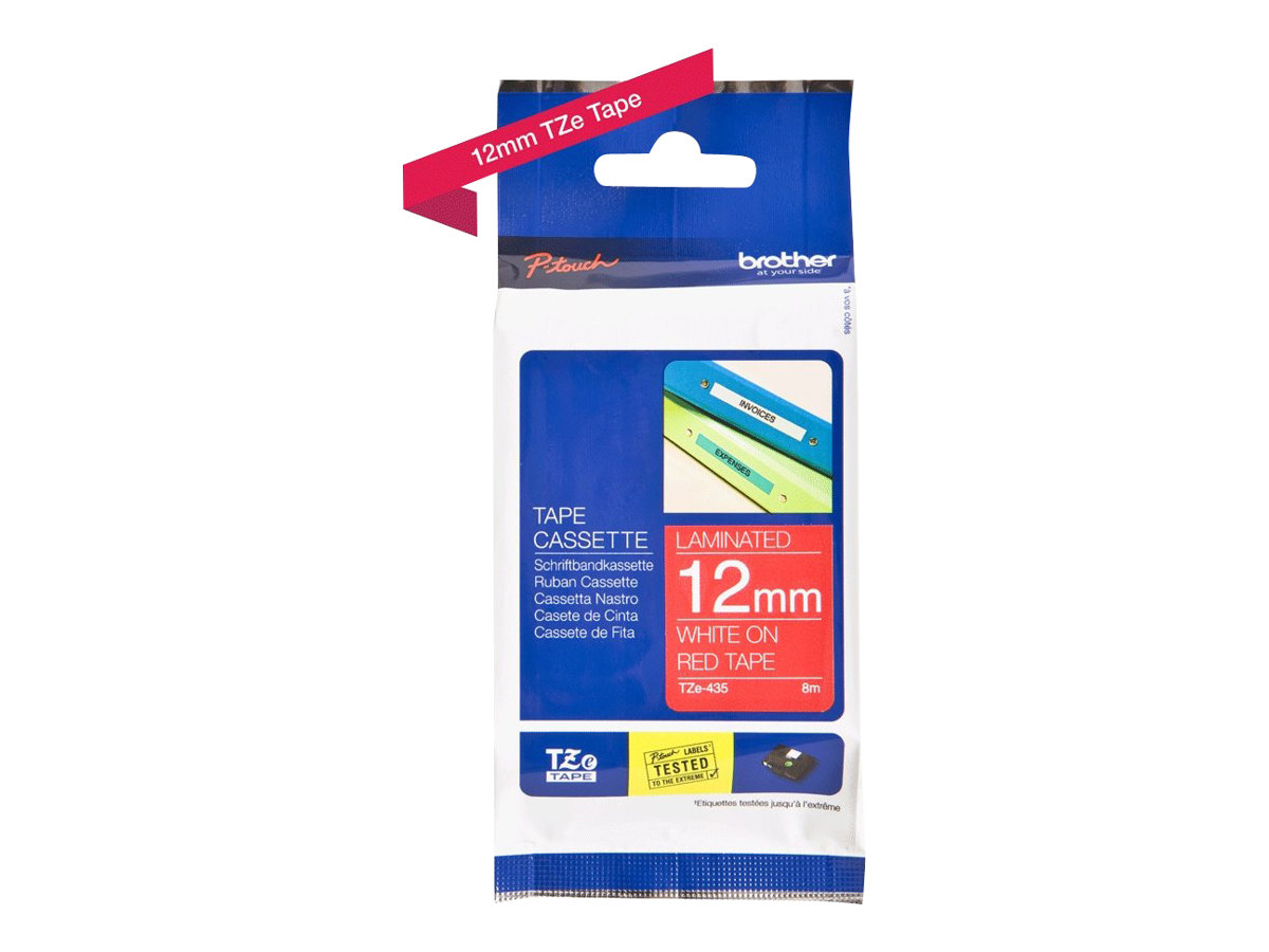 Brother TZe-435 - laminated tape - 1 roll(s) - Roll (1.2 cm x 8 m)