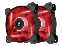 Corsair Air Series LED AF120 Quiet Edition - Case fan - 120 mm - red (pack of 2 )
