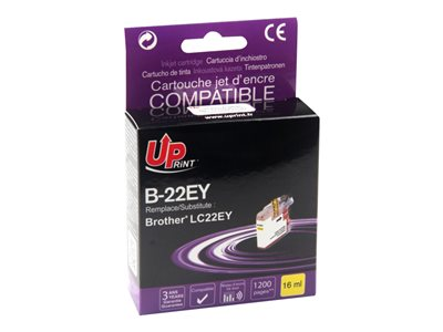 compatibles Brother  Brother LC22E - compatible UPrint B.22EY - jaune - cartouche d'encre