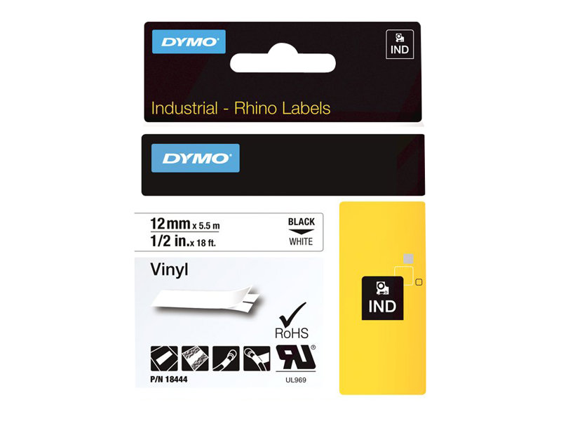 DYMO IND All-Purpose - label tape - 1 cassette(s) - Roll (1.2 cm x 5 m)