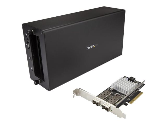StarTech.com Thunderbolt 3 to 10GbE Fiber Network Chassis - External PCIe enclosure - 2 Open SFP+ Ports - network adapt…