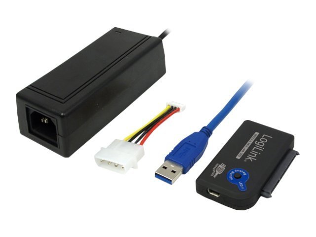 LogiLink Adapter USB 3.0 to SATA with OTB - Speicher-Controller - SATA 3Gb/s - 300 MBps - USB 3.0