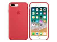 Apple - Back cover for mobile phone - silicone - raspberry red - for iPhone 7 Plus, 8 Plus