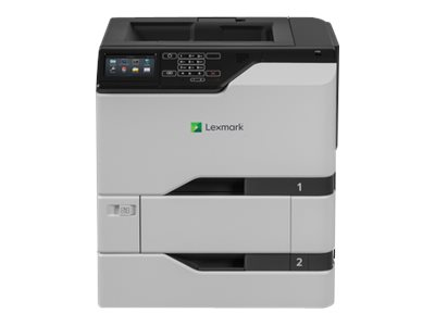 Lexmark CS720dte - Printer - color - Duplex - laser - A4/Legal - 1200 x 1200 dpi - up to 38 ppm (mono) / up to 38 ppm (color) - capacity: 1200 sheets - USB 2.0, Gigabit LAN, USB 2.0 host
