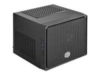 Cooler Master Elite 110 - Ultra Small Form Factor - Mini-ITX (ATX / PS/2) - schwarz - USB/Audio