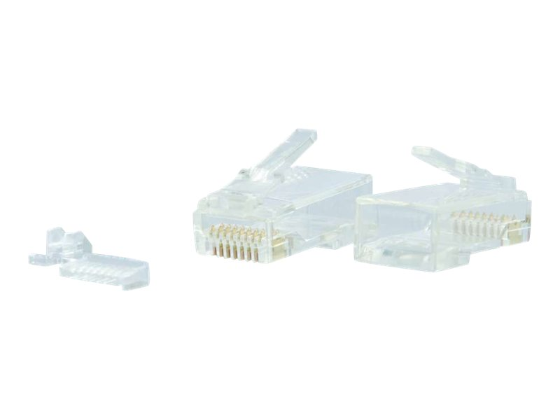 C2G Modular Plug for Round Solid/Stranded Cable - network connector - clear