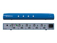 HighSecLabs Secure SK41P-3 KVM / audio / USB switch 4 x KVM / audio / USB 1 local user