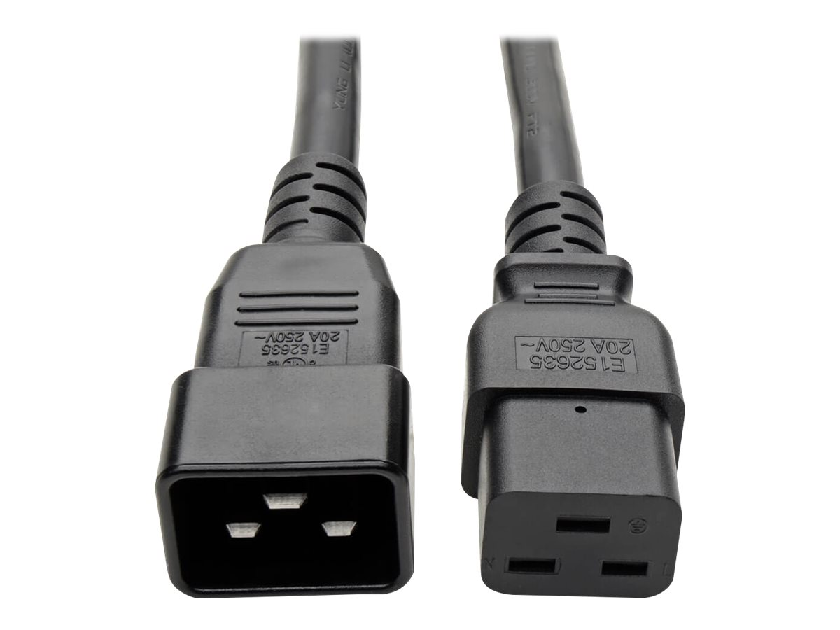 Tripp Lite 6ft Power Cord Extension Y Splitter Cable C19 to C20 20A 12AWG 6' - power cable - 1.8 m