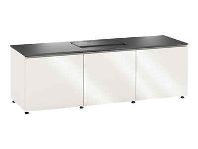 Salamander Credenza Miami Cabinet unit for projector / AV System extruded aluminum