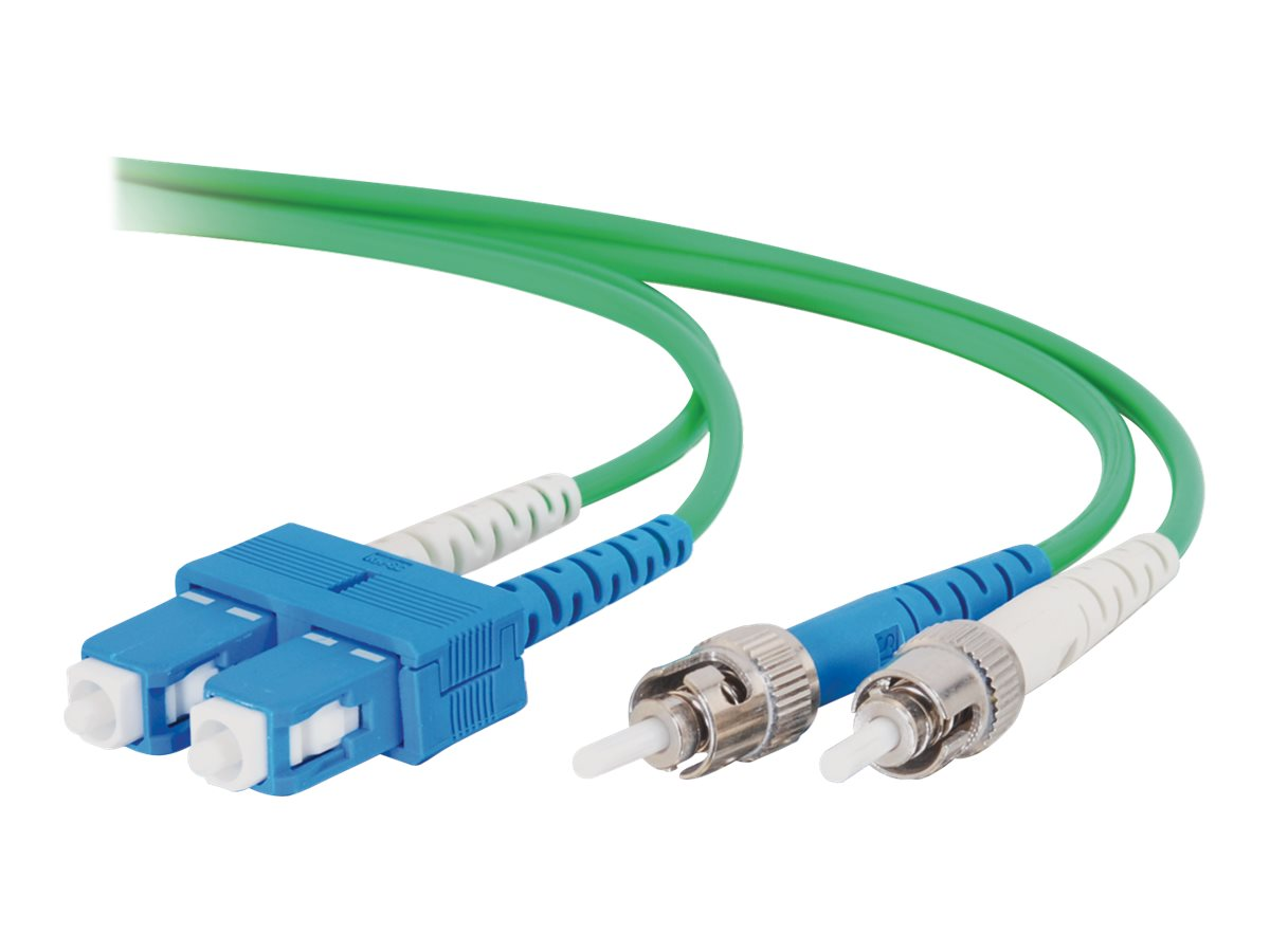 C2G 2m SC-ST 9/125 Duplex Single Mode OS2 Fiber Cable - Green - 6ft - patch cable - 2 m - green