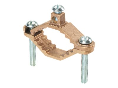 Panduit StructuredGround Mechanical Connectors Bronze Ground Clamp, Heavy Duty Base - grounding clamp kit