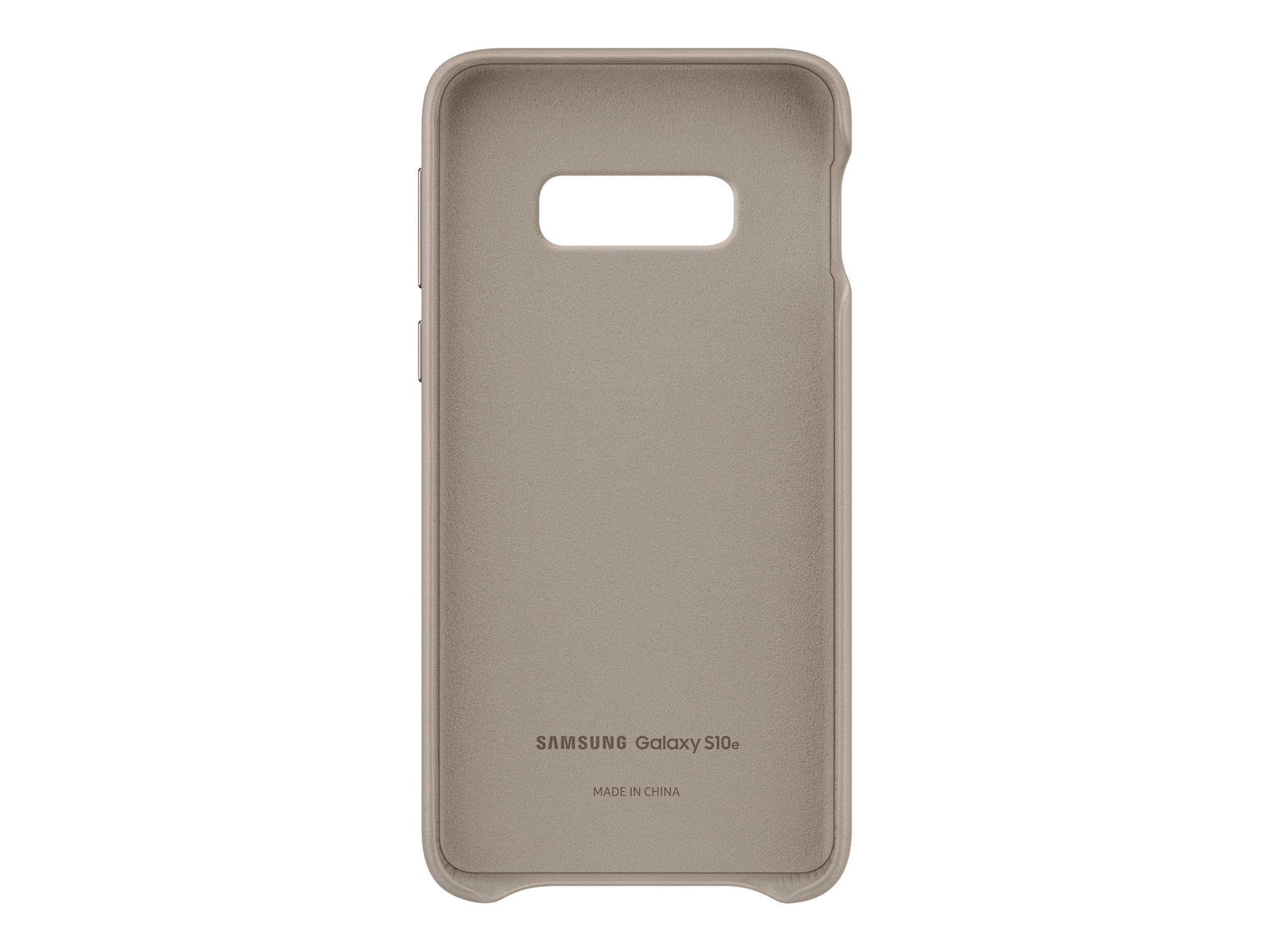 Samsung Leather Cover EF-VG970 - back cover for cell phone