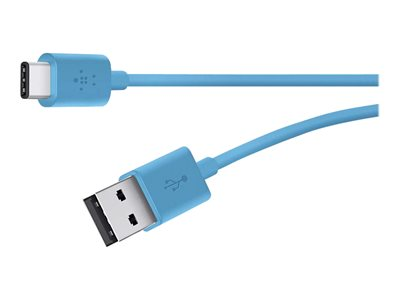 Belkin MIXIT USB cable USB (M) to USB-C (M) USB 2.0 6 ft reversible C connector bl