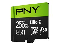 PNY Elite-X - flash-minneskort - 256 GB - mikroSDXC UHS-I