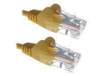 0.3M Yellow RJ45 UTP CAT 6 Stranded Flush Moulded Snagless Network Cable 24AWG LS0H