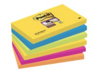 Notes repositionnables Notes Super Sticky Post-it Rio - 76 x 127 mm - 6 blocs