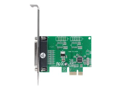 Manhattan PCI Express Card, 1x Parallel DB25 port, 2.0 Mbps, IEEE 1284, x1 x4 x8 x16 lane buses, Supports EPP/ECP/SPP m…