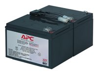 APC Replacement Battery Cartridge #6 - UPS battery Lead Acid - black - for P/N: DLA1500J, SMC1500, SMC15000I, SMT1000, SMT1000I, SMT1000US, SU1000RMI, SUA1000ICH