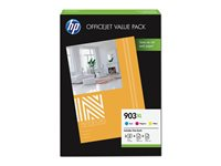 HP 903XL Office Value Pack - Pack de 3 - à rendement élevé - couleur (cyan, magenta, jaune) - originale - cartouche d'encre - pour Officejet 6950, 6951, 6954, 6962; Officejet Pro 6960, 6970, 6975