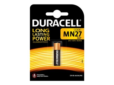 Piles & Chargeurs Duracell Security MN27 - batterie x MN27 - Alcaline