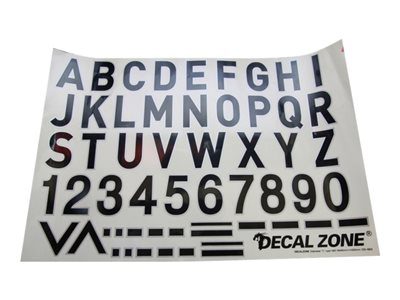 Decal Zone - Set adesivi lettere e simboli