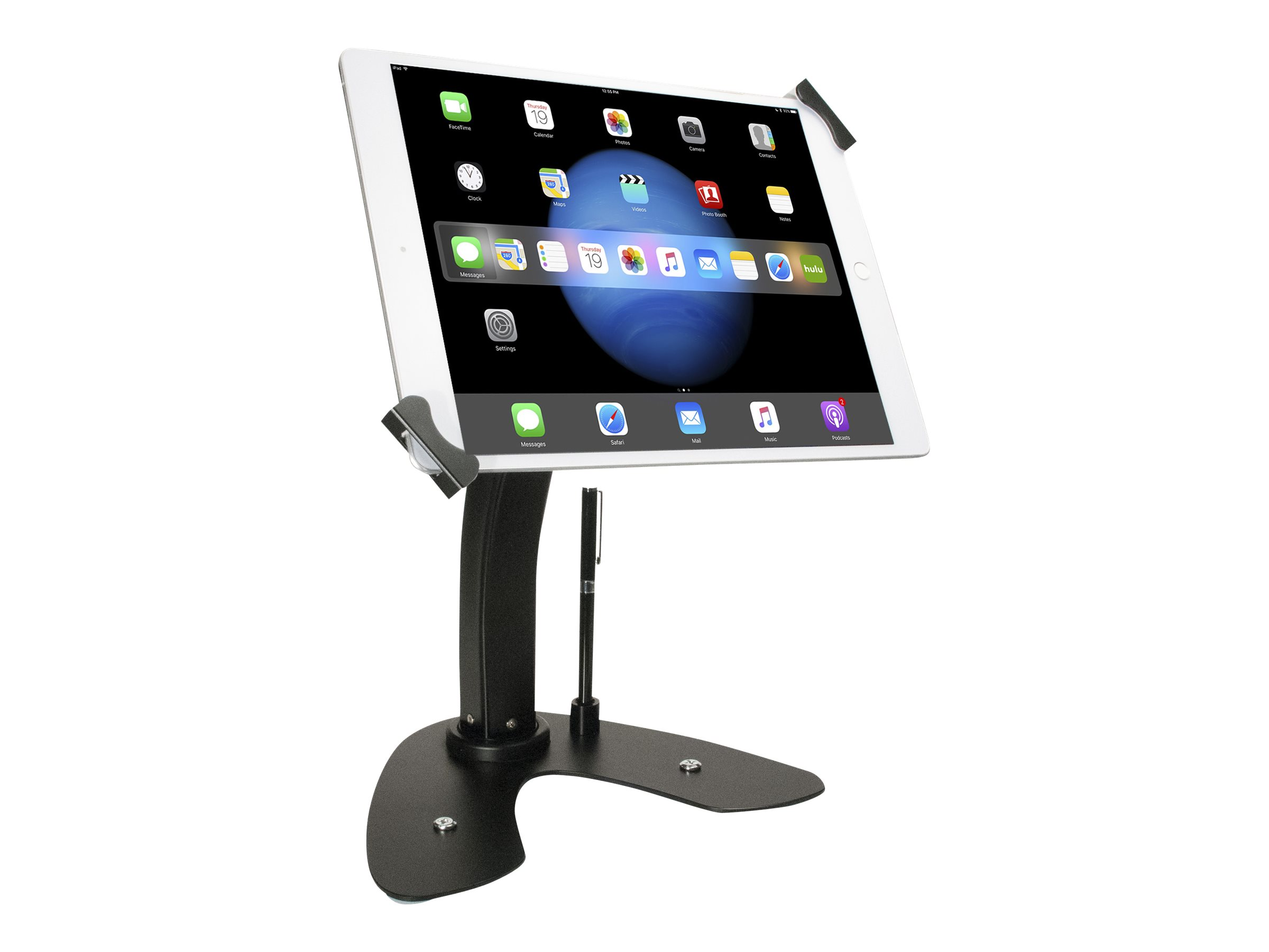 CTA Digital Universal Dual Security Kiosk with Locking Holder and Anti-Theft Cable - stand