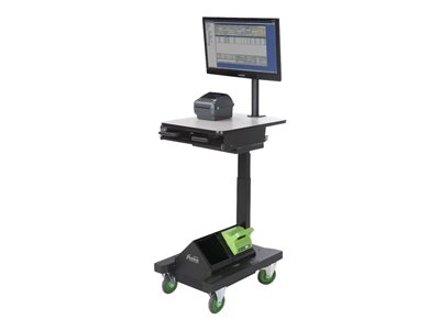 Newcastle Systems AP207NU2-S Cart for LCD display / notebook steel black powder coat